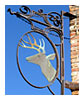 bronze deer head sign